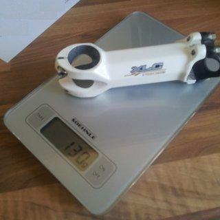 Gewicht XLC Vorbau Pro SL weiß 31.8mm, 110mm, 5°