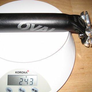 Gewicht Oval Concepts Sattelstütze R300 31.6 x 300mm