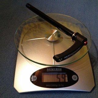 Gewicht DT Swiss Achse RWS Thru Bolt 135 x 12mm