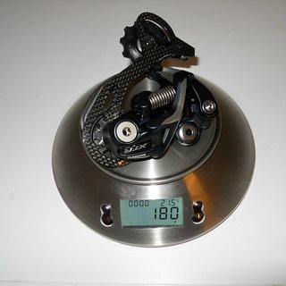 Gewicht Shimano Schaltwerk XTR RD-M972 GS Short Cage