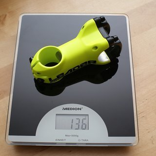 Gewicht Sixpack Vorbau Leader 70 mm