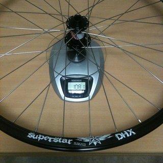 Gewicht Superstar Components Systemlaufräder DHX Wheelset VR, 100mm/15