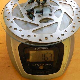 Gewicht Shimano Bremsscheibe SM-RT51S 160mm