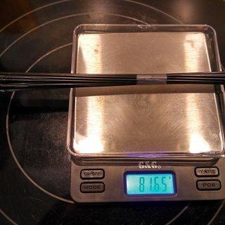 Gewicht Sapim Speiche D-Light 272mm, 16 Stück