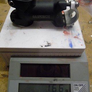 Gewicht Alutech Vorbau 1555-15 Vorbau 31.8mm, 60mm, 10°