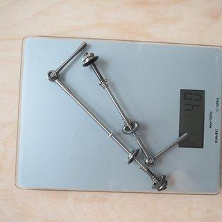 Gewicht POP-Products Schnellspanner MTB Schnellspanner 100mm, 135mm