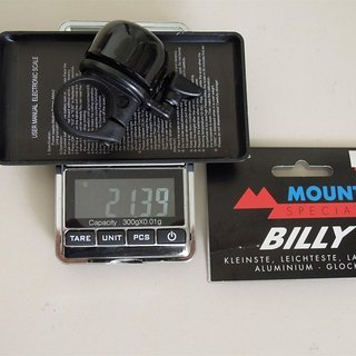 "Gewicht Mounty Special Weiteres/Unsortiertes Fahrradglocke ""Billy"" 22,2mm Lenker"