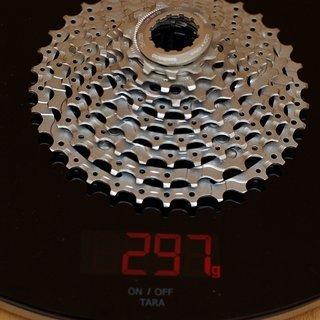 Gewicht Shimano Kassette XT CS-M770 9-fach, 11-34Z
