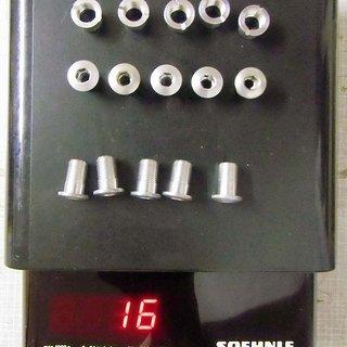 Gewicht Tune Kettenblattschrauben Alu, 5er-Set M8x13 + M8x9 + Mutter
