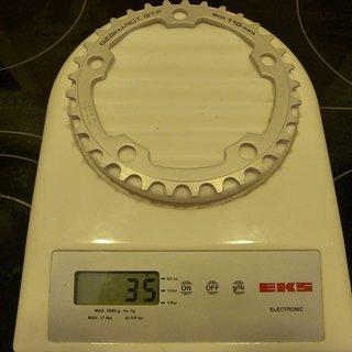Gewicht Gebhardt Kettenblatt GTP Classic 110mm, 33Z