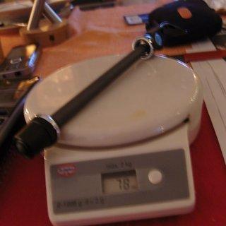 Gewicht Nope Achse Steckachse (QR) 100 x 9mm