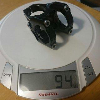 Gewicht Alutech Vorbau TwinWorks CNC mit Titanschrauben 31.8 mm, 35 mm, +/- 5°
