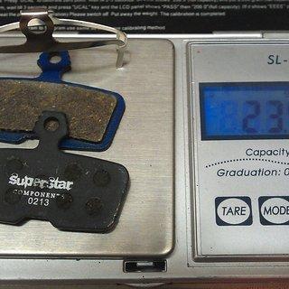 Gewicht Superstar Components Bremsbelag A5 - Organic Code ab 2011