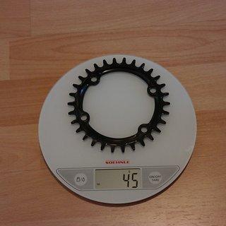 Gewicht Garbaruk Kettenblatt Shimano XT/SLX Asymetrisch 30