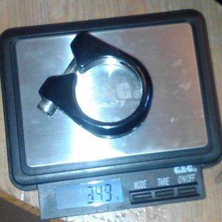 Gewicht OnOff Sattelklemme Notion 1-R 34,9mm