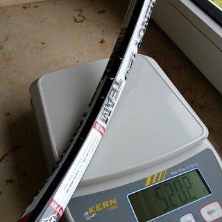 Gewicht WTB Felge Frequency Team I25 650b / 584x25 / 32 Loch