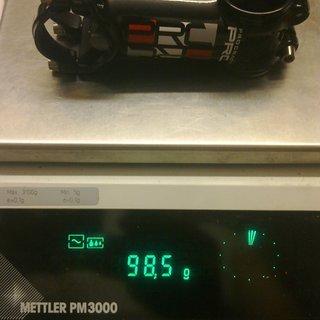 Gewicht Procraft Vorbau PRC ST1 25.4mm, 80mm, 7°