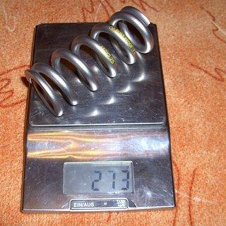 Gewicht Nukeproof Feder ShockWave Titan 450 x 2,25