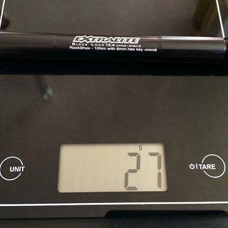 Gewicht Extralite Achse Black Lock 15.4 15x100mm