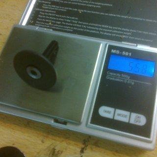 Gewicht Carbon Ti Ahead-Kappe X-Cap Carbon matte 1 1/8