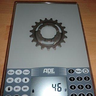Gewicht SRAM Nabenschaltungen Ritzel 19Z