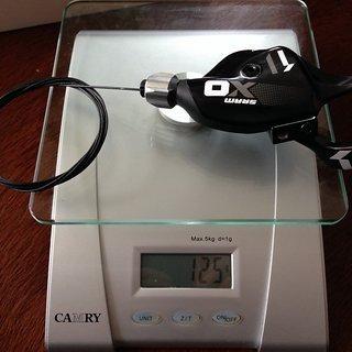 Gewicht SRAM Schalthebel X01-Trigger