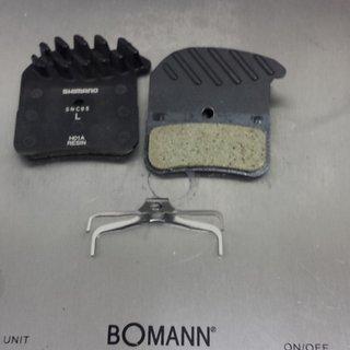 Gewicht Shimano Bremsbelag H01A Resin mit Kühlrippen