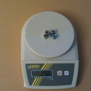 Gewicht Shimano Kettenblattschrauben Alfine FC-S500 / FC-S501 M8x8,5mm