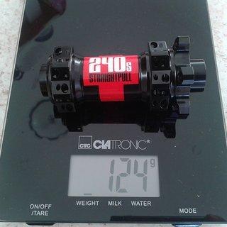 Gewicht DT Swiss Nabe 240S SP IS 28L 100x15mm