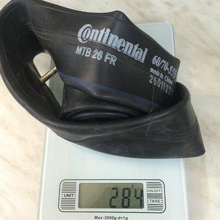 Gewicht Continental Schlauch MTB 26 Freeride SV 26x2.3 - 2.7