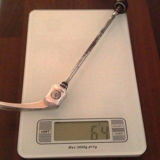 Gewicht Shimano Schnellspanner XT 750er-Serie 135mm