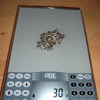 Gewicht No-Name Speichennippel Messing-Nippel 32x, 2mm, 14mm