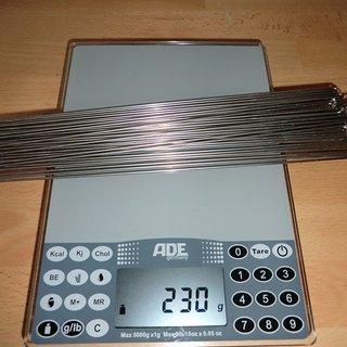 Gewicht DT Swiss Speiche Competition 284mm, 36 Stück