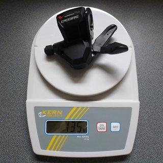 Gewicht Shimano Schalthebel Deore SL-M590 3-fach