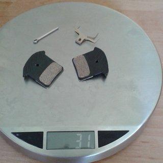 Gewicht Shimano Bremsbelag  J04C Ice Tech Sinter