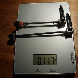 Gewicht Shimano Schnellspanner LX 100 / 135