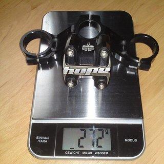 Gewicht Hope Vorbau Top Crown 31.8mm, 50mm