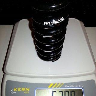 Gewicht Fox Racing Shox Feder Stahlfeder 650 x 2.80