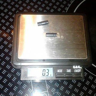 Gewicht Shimano Innen- und Außenzüge Schalthüllenendhülse 4mm, 2x