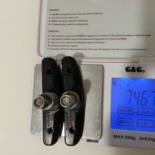 Gewicht Shimano Bremsbelag M70T4