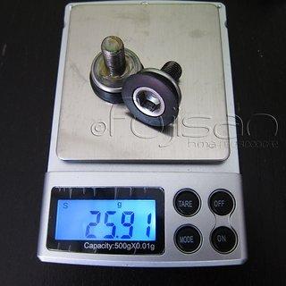 Gewicht Shimano Schrauben, Muttern Kurbelarmschraube M8x15, Stahl