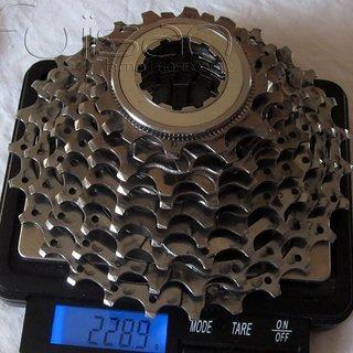 Gewicht Shimano Kassette Ultegra CS-6500 9-fach, 12-27Z