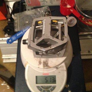 Gewicht Shimano Pedale (Platform) DX