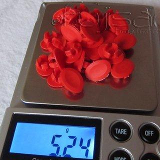 Gewicht clemenzo cycling Felgenband Veloplugs (rot) 32pcs