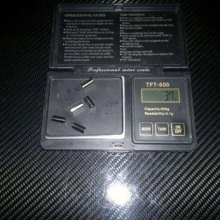 Gewicht Gore Innen- und Außenzüge Ride On Ultralight Endhülsen Stahl 5 Stück