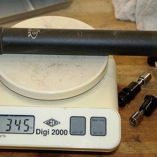 Gewicht BBB Sattelstütze Skyscraper 26,8 x 400mm