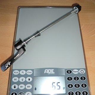Gewicht Shimano Schnellspanner XT 785er-Serie 135mm