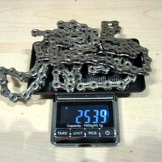 Gewicht KMC Chain Kette X 10 SL Silber 116 Glieder, 10-fach