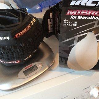 Gewicht IRC Reifen Mibro for Marathon 26x2.10 26 x 2.10