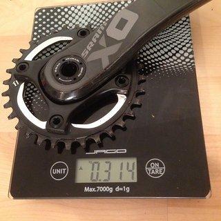 Gewicht SRAM Kurbel X01 170mm, BB30